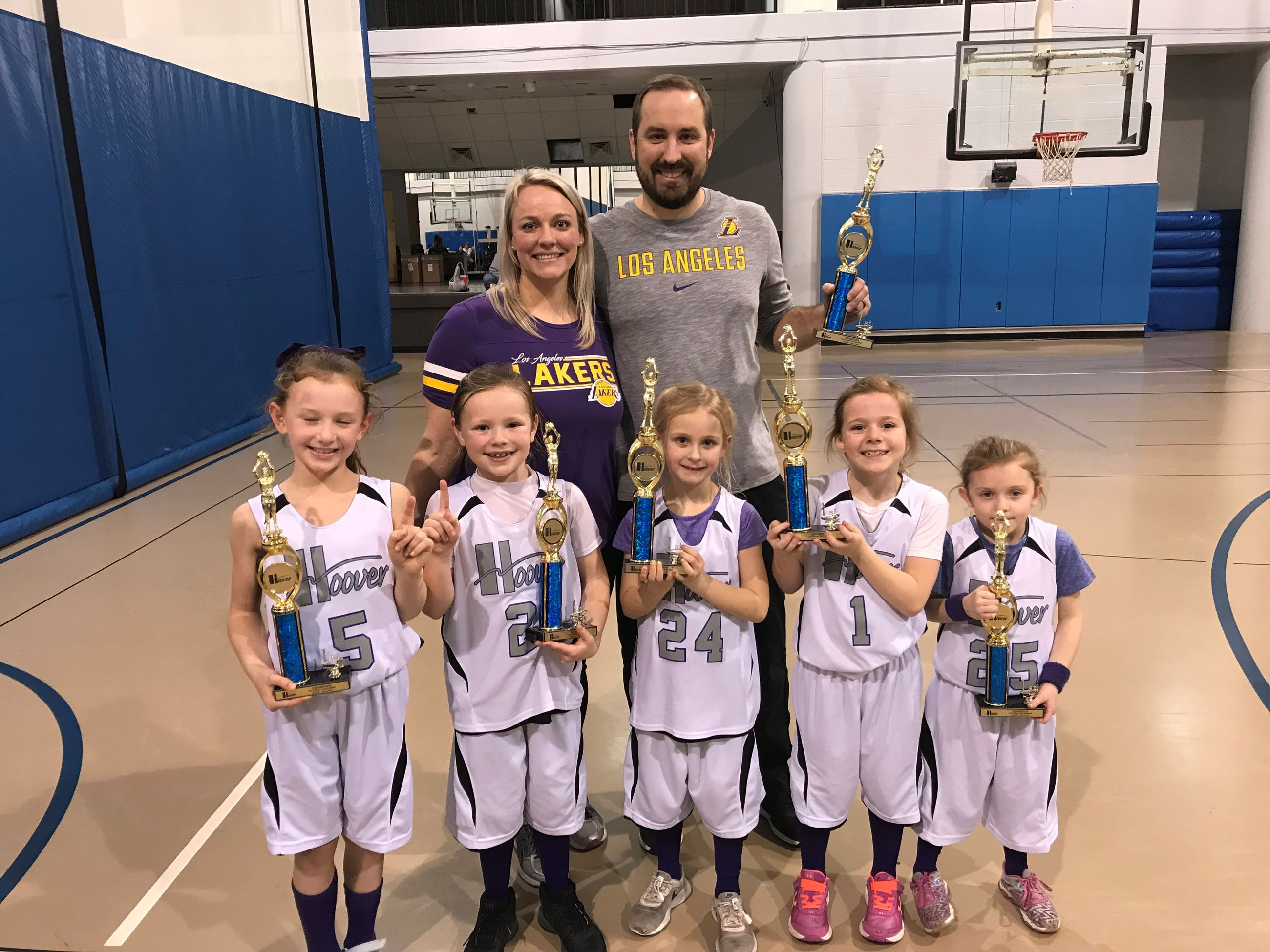 Kindergarten thru 2nd Grade Champions Lady Lakers Coach Wilson