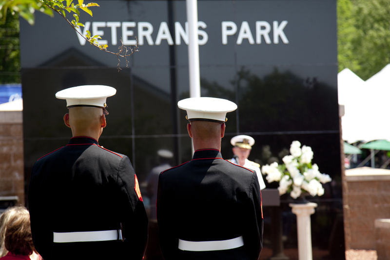 marines at veterans monument