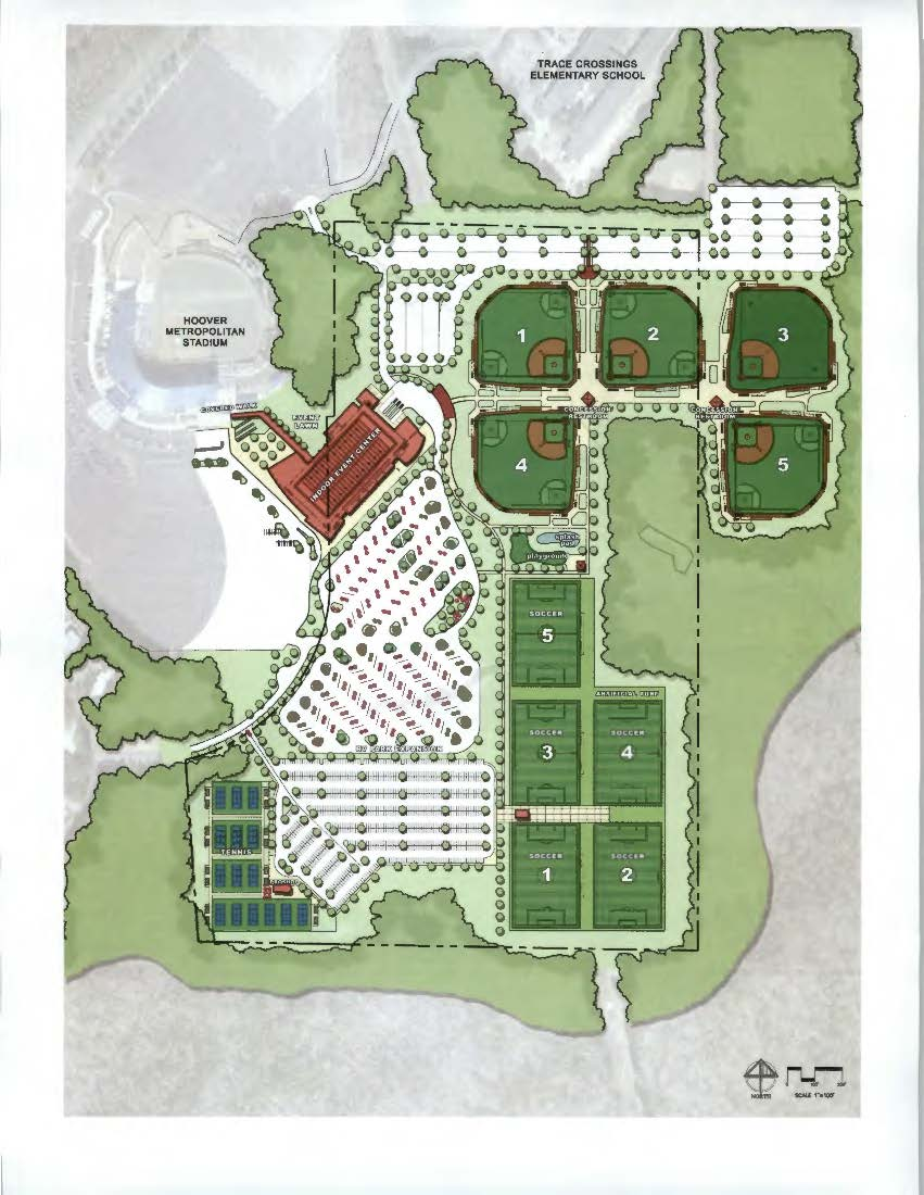Hoover Sports and Events Center Master Plan Draft