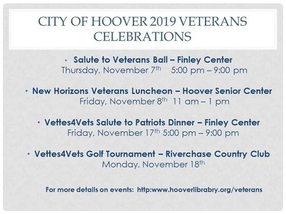2019 Veterans Celebrations