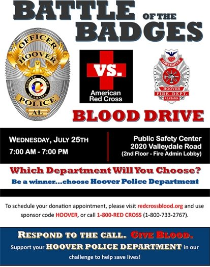 """""""Battle of the Badges"""" Blood Drive"""