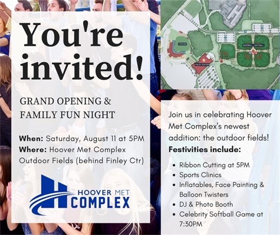 Hoover Met Complex Grand Opening & Family Fun Night