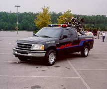 DARE truck in parking lot